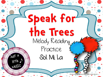 Dr. Seuss inspired Truffula Trees Melody Reading Practice