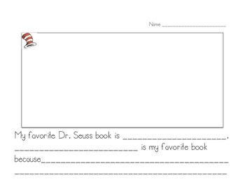 Dr. Seuss week writing