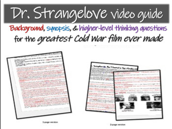 Dr. Strangelove Video Guide: background, synopsis & great