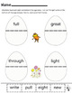 Dr Seuss Eggcellent Matching Rhymes Worksheets (SIGHT WORDS)