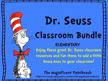Dr.Seuss Classroom Bundle:Classroom Bulletin and Theme Bundle