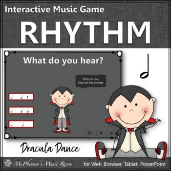 Dracula Dance {Half Notes} Interactive Music Game