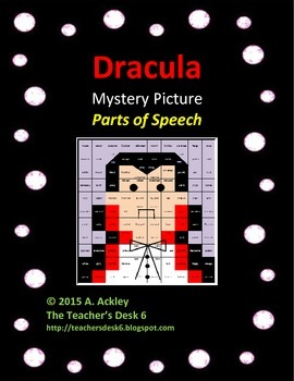 Dracula Mystery Picture Parts of Speech