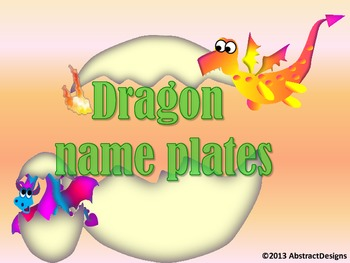 Dragon Name Plates