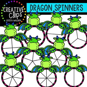 Dragon Spinners {Creative Clips Digital Clipart}