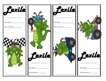 Dragon Themed Lexile Bookmarks