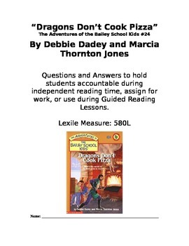 Dragons Don't Cook Pizza Chapter Book Questions and Answers