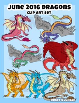 Dragons June 2016 Clip art set