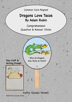 Dragons Love Tacos - Comprehension Q & A Sticks - Craft & Writing