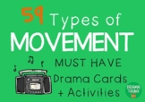 Drama Cards : MOVEMENT CARDS (with Drama Games + Activities)