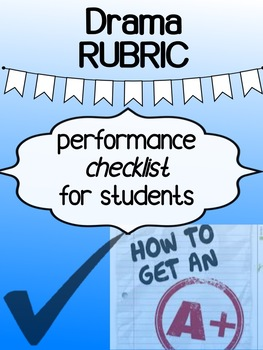 Drama - Performance Checklist (Rubric)