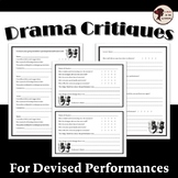 Drama Critiques: Performance Evaluations for Actors and Au