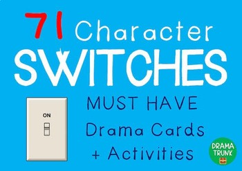 Drama / English Cards : CHARACTER SWITCHES (Drama Games +