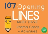 OPENING LINES Drama / English Cards (with Drama Games + Ac