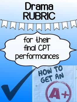 Drama - Major Project RUBRIC - CPT