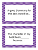 Drama/Play Reading Comprehension Task Cards