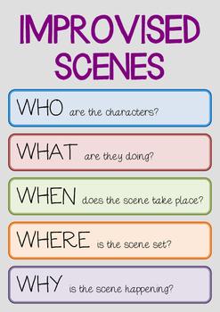 Drama Poster : IMPROVISED SCENES