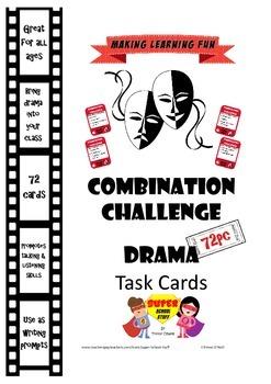 Drama Role Play or WritingTask Cards-Combination Improv Ch