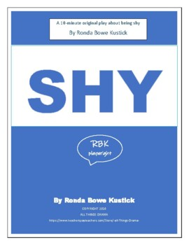 """Drama """"SHY"""" 10-minute play by Ronda Bowe Kustick"""