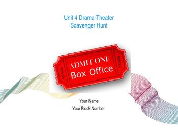 Drama Unit Scavenger Hunt