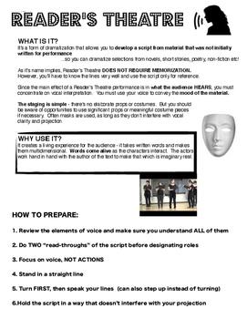 Drama VOICE Reader's Theatre handout