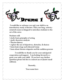 Drama Welcome Packets