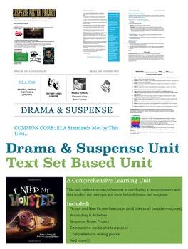 Drama and Suspense Unit: Middle School Common Core - Engli