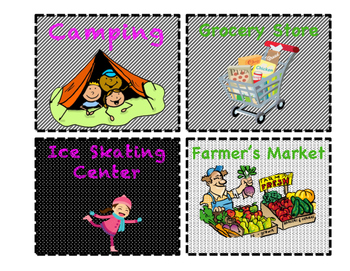 Dramatic Play Center Labels