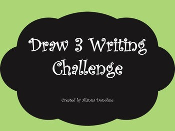 Draw 3 Writing Challenge