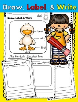 Draw, Label, & Write! 72 Printables for Beginning Writers