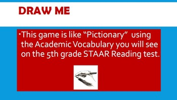 Draw Me - STAAR Reading Vocabulary game (5th grade)