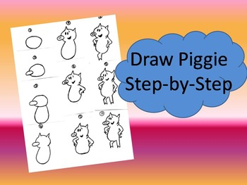 Draw Mo Willems's Piggie Step-by-Step