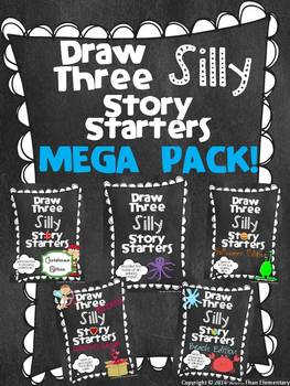 Draw Three Silly Story Starters - MEGA PACK! - Creative Wr