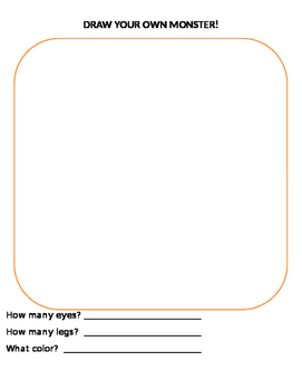 Draw Your Own Monster Template
