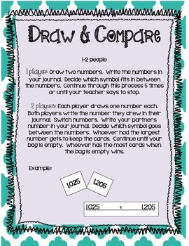 Draw and Compare Game