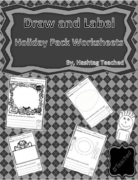 Draw and Label Holiday Pack Scene Bundle (Building Early V