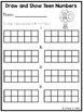 Draw and Show Teen Numbers (Math Practice Pages)