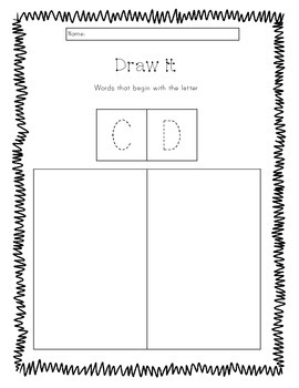 Draw it Beginning letter sounds