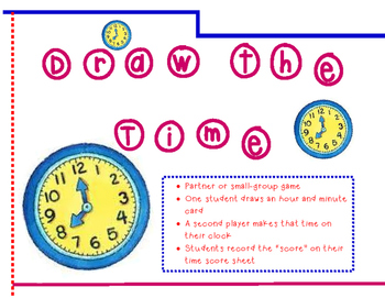 Draw the Time (Time to the Hour, 1/2 Hour, and 5-Minute)