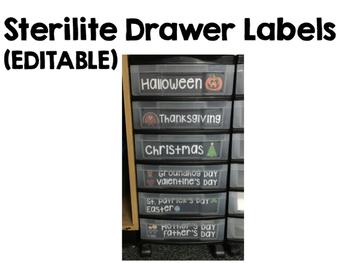 Drawer Labels (EDITABLE)