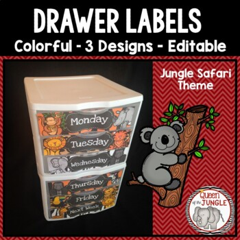 Drawer Labels Editable