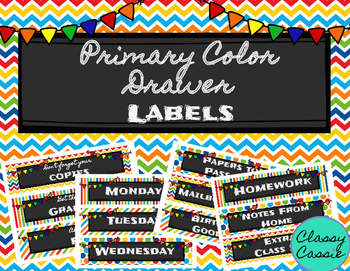 Drawer Labels {Primary Colors}