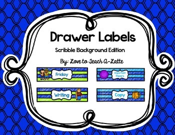 Sterilite Drawer Labels Scribble Background Edition