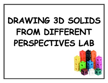 Drawing 3D Solids From Different Perspectives Snap Cube Lab