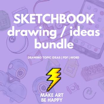 Drawing Challenges/Sketchbook Topic (#1-3) BUNDLE - PDF/WO