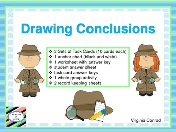 Drawing Conclusions--3 Sets of Task Cards and More