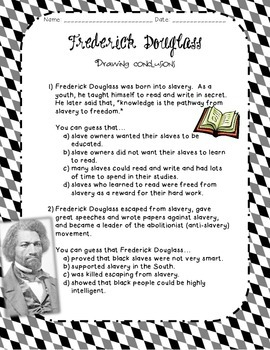 Drawing Conclusions- Frederick Douglass