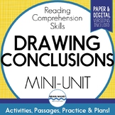 Drawing Conclusions Passages, Worksheets and Graphic Organizers