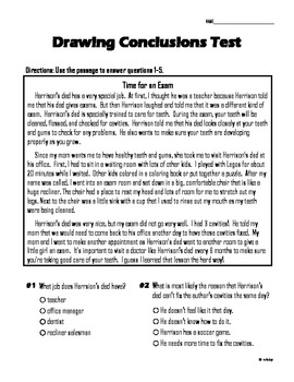 Drawing Conclusions Test 2