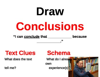 Drawing Conclusions Visuals
